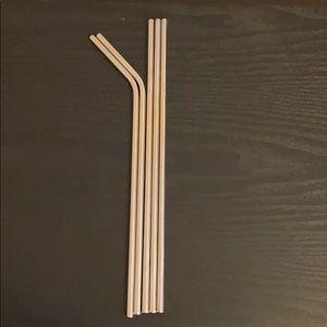 Kitchen - (5) stainless steel reusable straws
